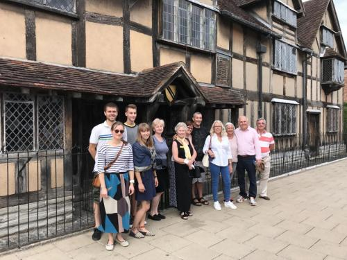 Charity Walk outside Shakespeare's Birthplac
