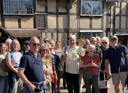 Town Walk outside Shakespeare's Birthplace